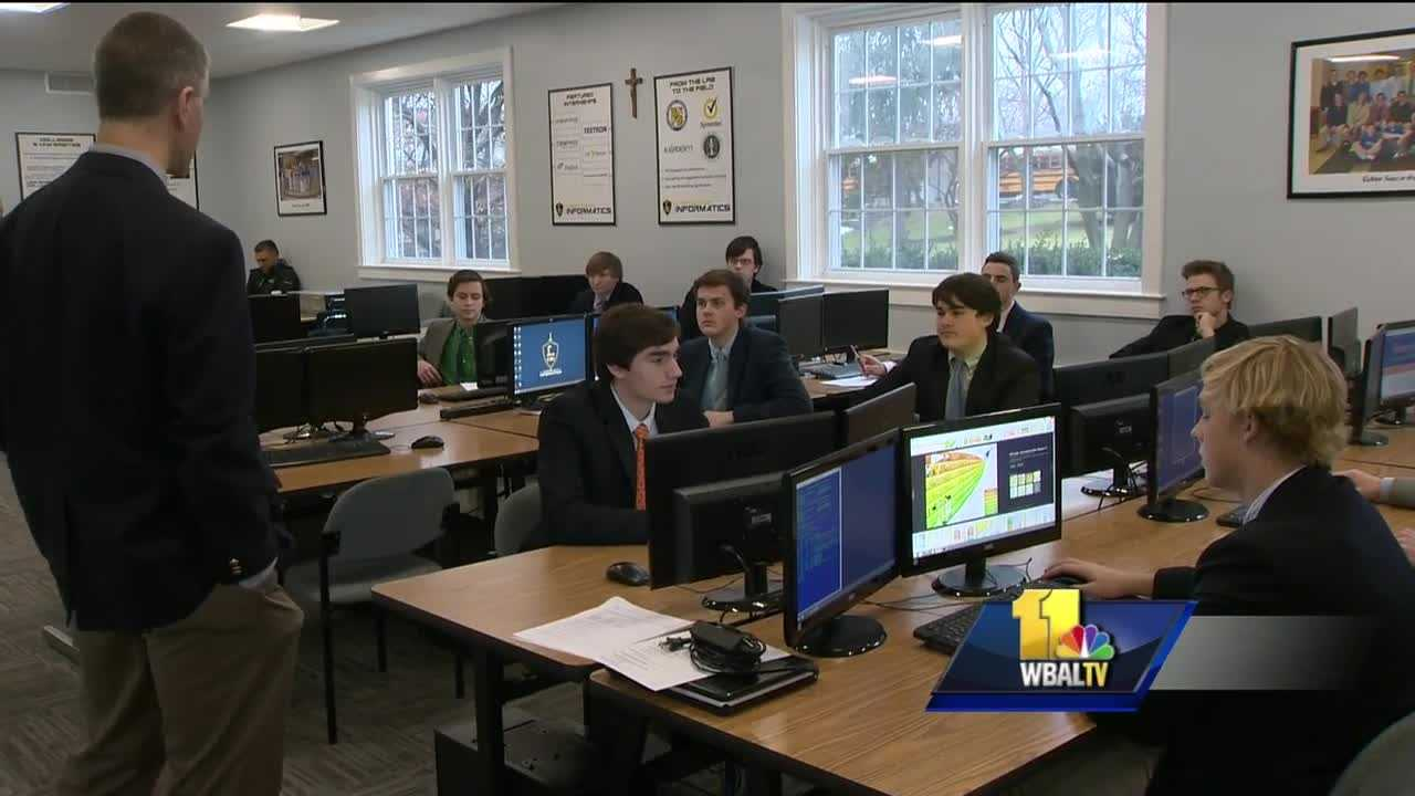 In a world where our smartphones connect us to everything, and the Internet plays an ever larger role, those who try to take advantage of it are as prevalent as ever. Those associated with Loyola Blakefield's cybersecurity club understand that, and believe the fight begins with education when it comes to protecting others from cyberattacks.
