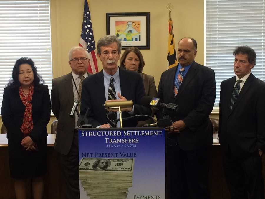 Feb. 25:Attorney General structured settlement news conference.