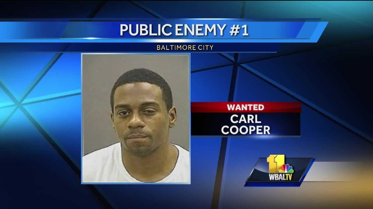 Baltimore City police have identified a suspect in the shootings of two senior citizens on Monday. City police identified Carl Cooper as Public Enemy No. 1, saying he is wanted in the shooting. Police said Cooper has a long criminal record.