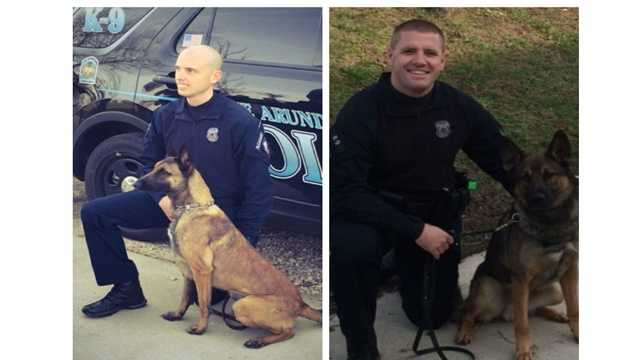 Anne Arundel County police K9s Erby and Leo will receive bullet- and stab-proof vests thanks to a donation from the non-profit group Vested Interests in K9s