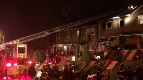 A person was killed in a Baltimore house fire Friday evening, police and fire officials said.