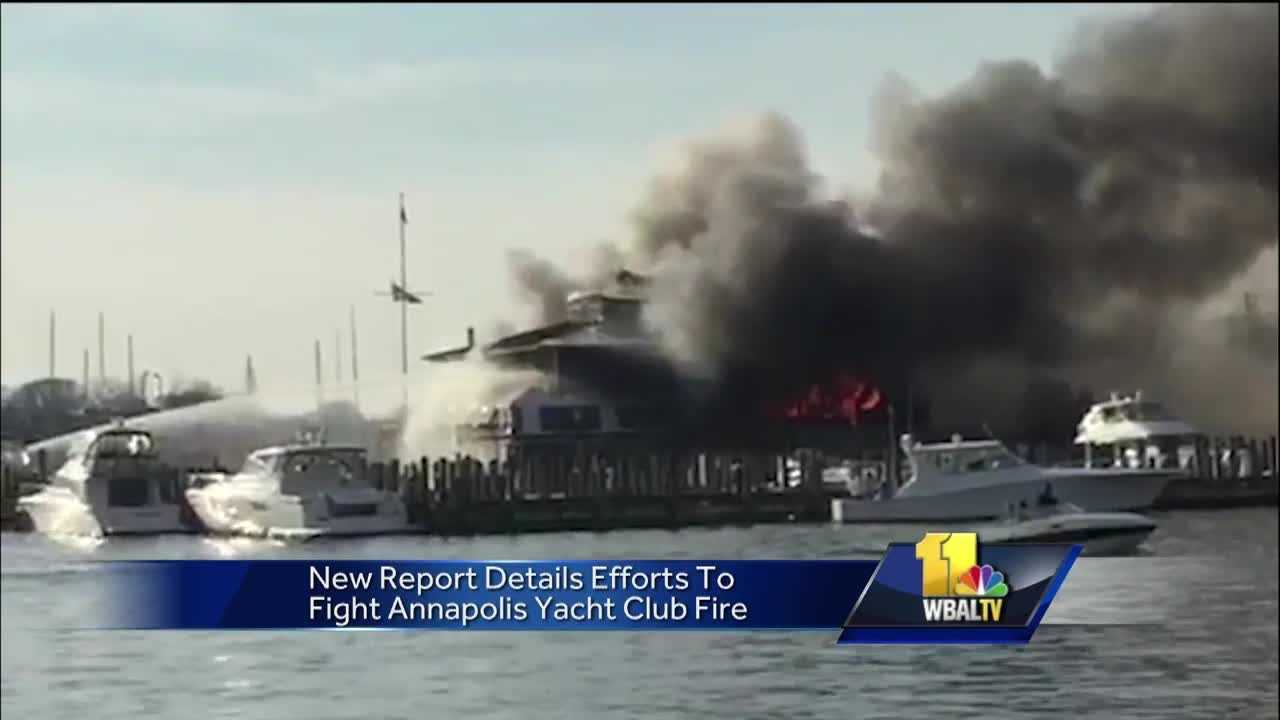 A report from the Annapolis Fire Department reinforces the finding that the Dec. 12 fire at the Annapolis Yacht Club was started by a malfunction from Christmas tree lights and an extension cord used for them.