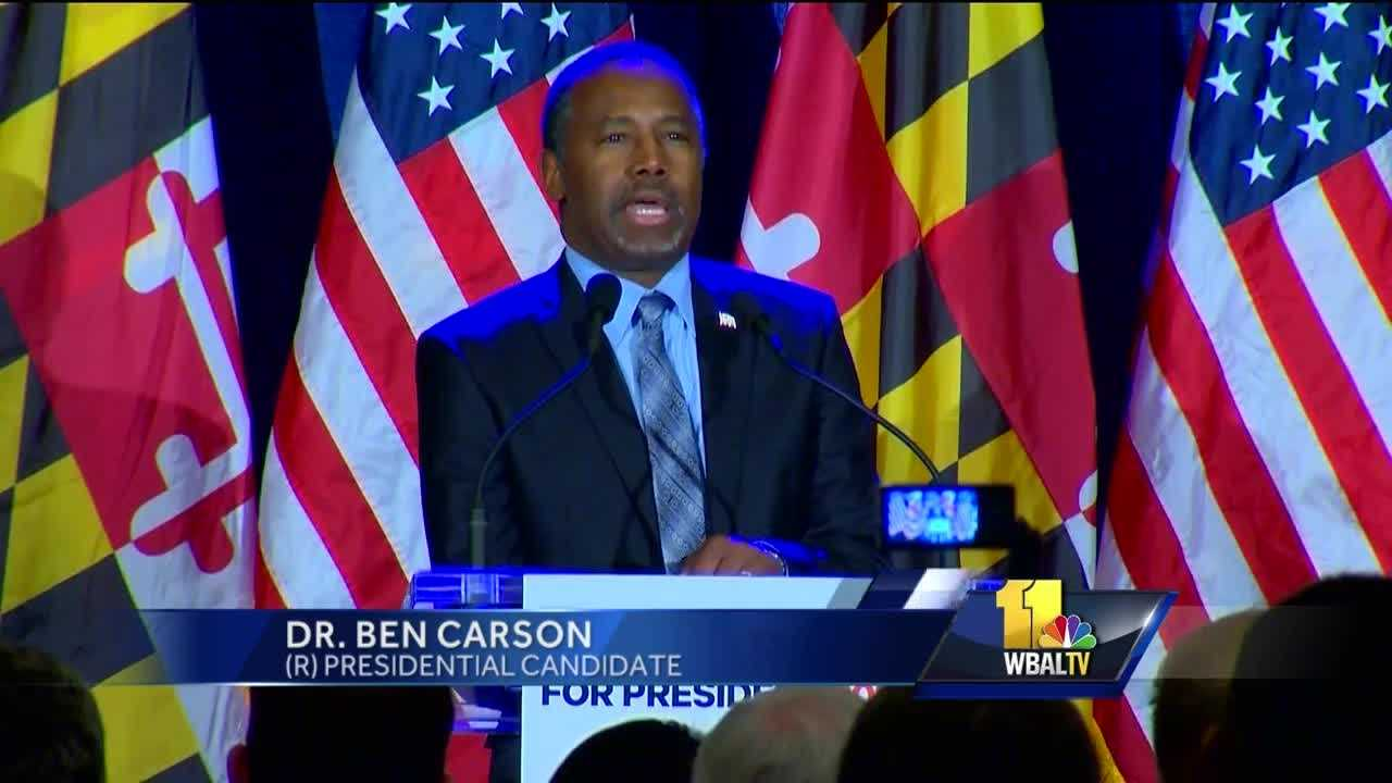 Despite not winning a state during Super Tuesday, Dr. Ben Carson told supporters in Baltimore that he was not ready to get out of the race.
