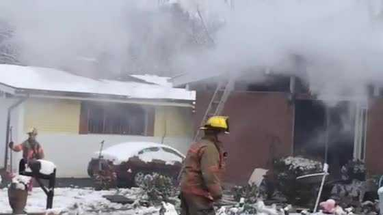No one was injured from a house fire Friday on Arrowhead Road in Pikesville.