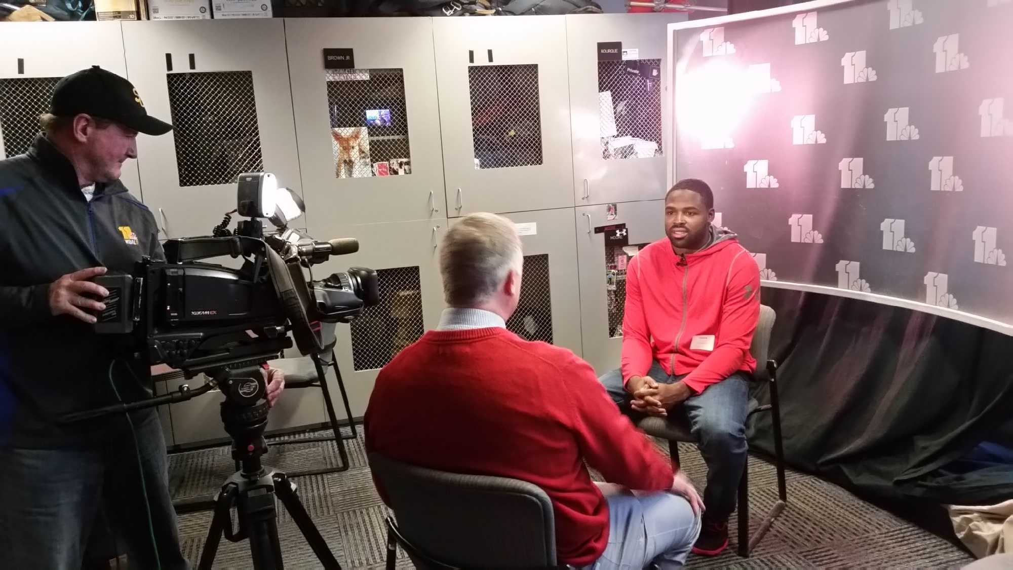 Torrey Smith talks with 11 Sports' Pete Gilbert about his upcoming event.
