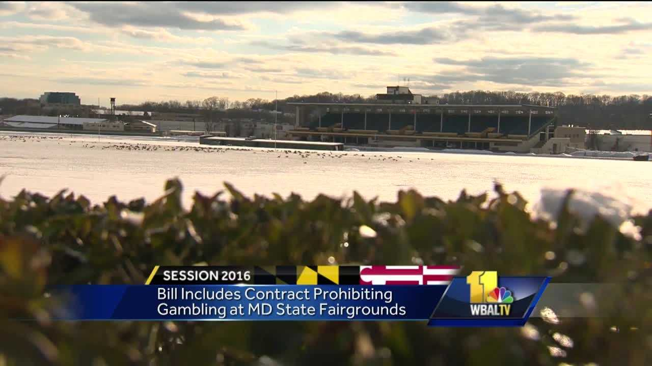The controversy over off-track betting at the Maryland State Fairgrounds in Timonium took a new twist Friday in Annapolis. A Baltimore County legislator introduced a bill that keeps slots and table games out of the picture forever. Baltimore County Delegate Chris West, a Republican, has come up with novel solution, amending his bill prohibiting off-track betting to allow it with a condition that the fairgrounds would enter a contract agreement with the Greater Timonium Community Council Inc., which represents about 60 neighborhoods.