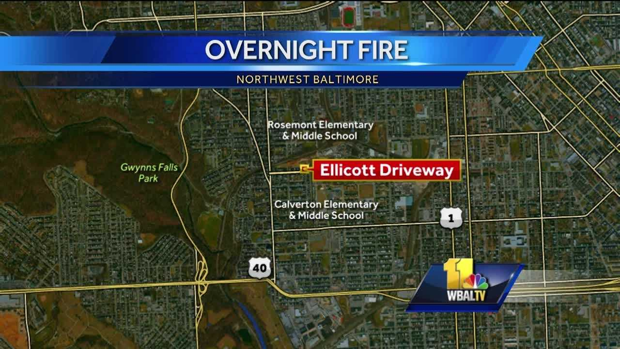 A city paramedic was treated at the scene of house fire Sunday night in northwest Baltimore.City fire officials said the fire began around 10:30 p.m. in the 2700 block of Ellicott Driveway.