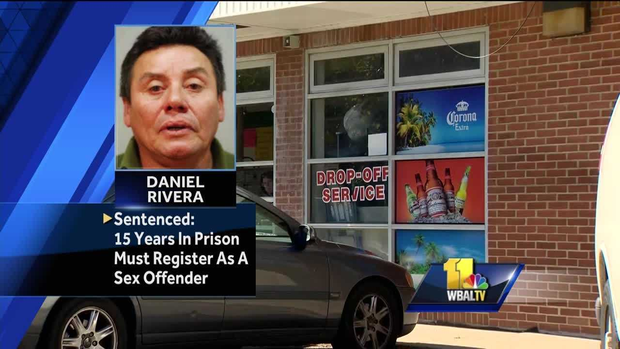 Daniel Rivera, 56, of Annapolis, was sentenced to 15 years in prison for raping a 12-year-old girl last year in the back of an Annapolis laundromat.