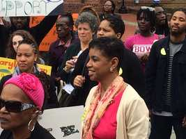 March 8: Donna Edwards at Expungement Day.