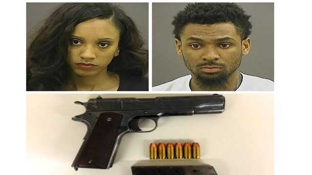Deria Williamson, 21, and Marquis Whitehead, 22, were arrested Tuesday after a traffic stop Tuesday in the 100 block of North Gorman Avenue.