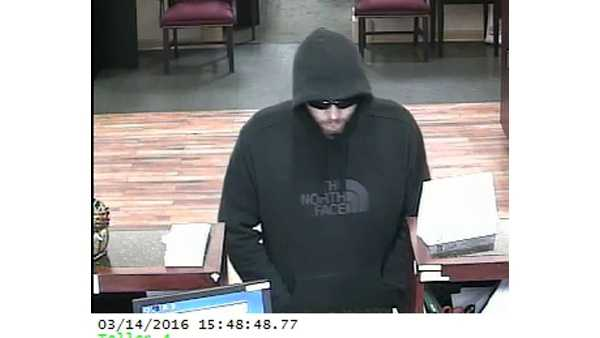 Anne Arundel County police are looking for a man who robbed a bank in Glen Burnie.