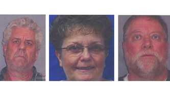 Wayne Howard Crew, Theresa Ann Crew, Jesse Lee Capel (left to right)