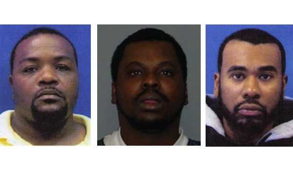 Donta Lamont Miles, Carl David Mealey, Jeremiah Eugene Lynch (left to right)
