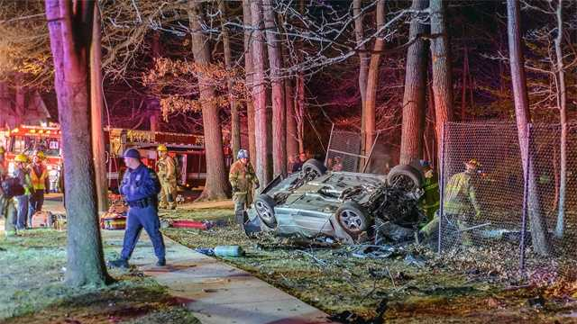 One person died and another was injured in a single-vehicle accident Monday night in Annapolis. Police said the crash was reported at 10:39 p.m. on Bay Ridge Avenue at Forest Hills Avenue. The vehicle left the road before flipping onto its side.