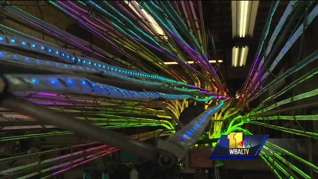 Light City Baltimore is slowly taking over the Inner Harbor. The first-of-its kind light festival is next week which will include a creation that is larger than life from one local artist.