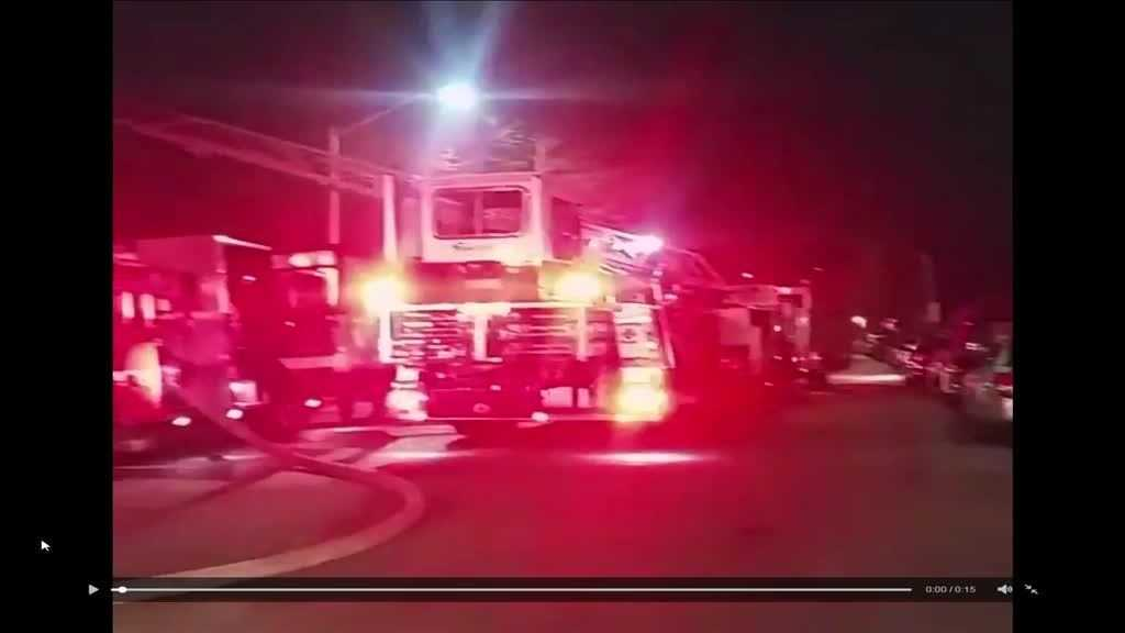 One person suffered minor injuries and a family was displaced after an early-morning fire Wednesday in Baltimore.