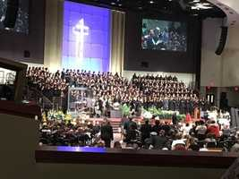 Hundreds of people turned out for the funeral of fallen Prince George's County police Officer Jacai Colson.