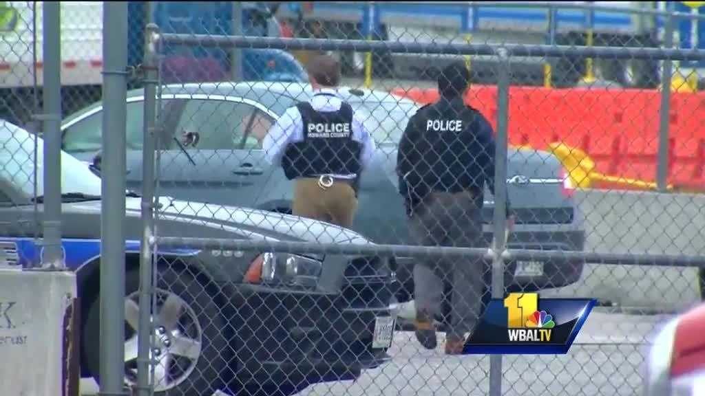 Howard County police investigate a double shooting Sunday at a truck stop in Jessup.