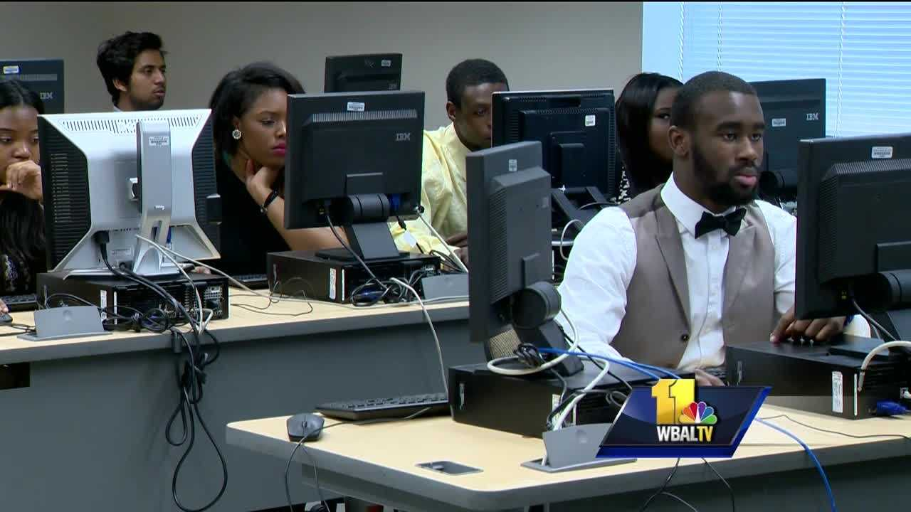 Every day students come to Baltimore City Community College dressed like they're going to work as they participate in a program called Year Up. In one year, they learn skills that will earn them a livable wage of $16 an hour or higher.