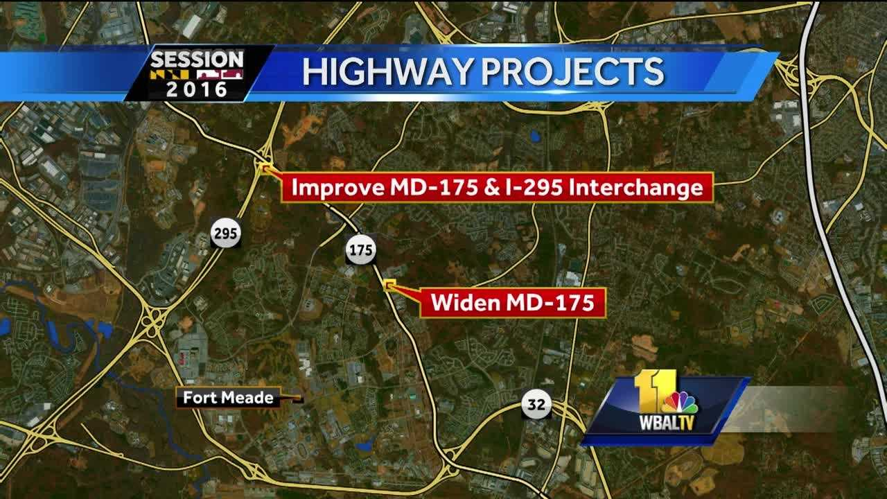 Gov. Larry Hogan on Thursday announced a $139 million widening of Maryland Route 175 at Fort Meade.