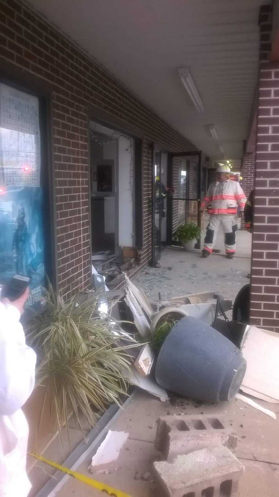 Nine people were injured Saturday when a vehicle crashed into a salon in Dundalk.