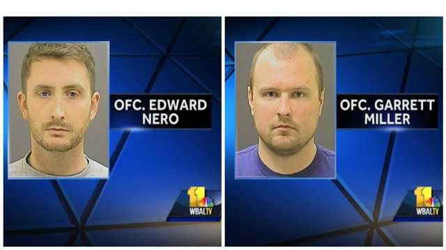 Baltimore police officers Edward Nero and Garrett miller are two of the six officers charged in connection with the death of Freddie Gray.