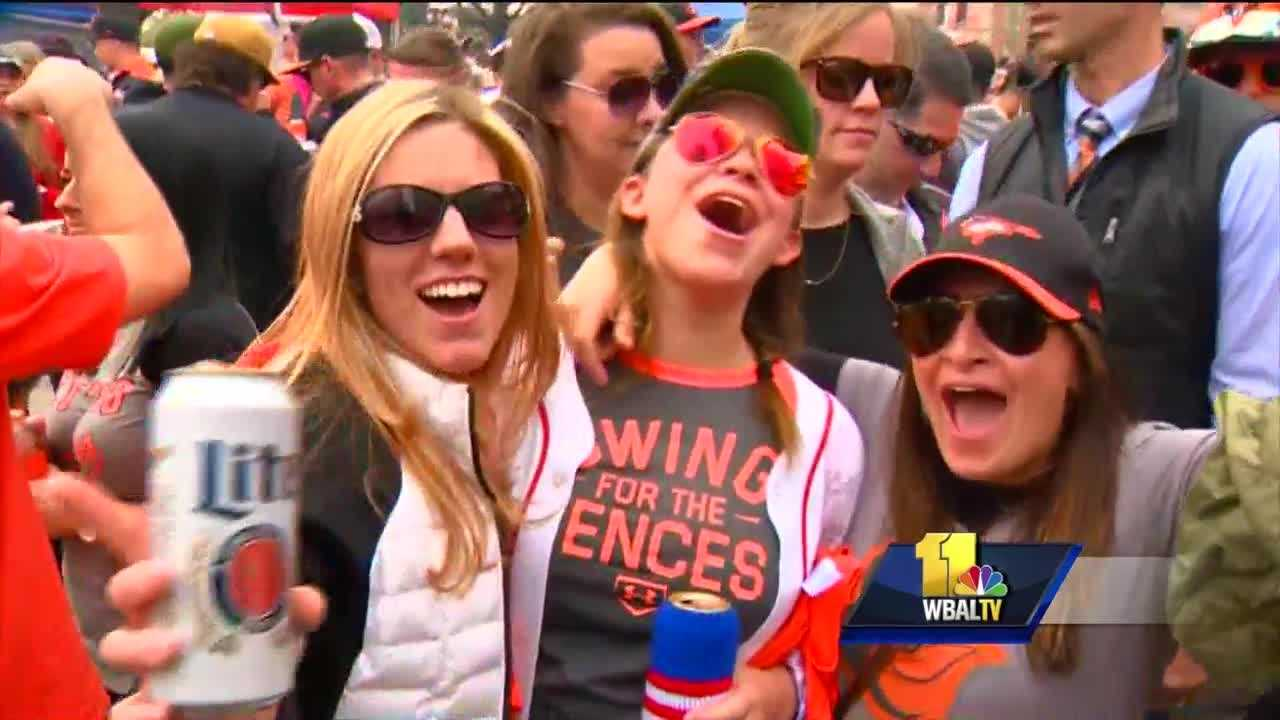 Orioles fans celebrate Opening Day 2016 at Oriole Park at Camden Yards