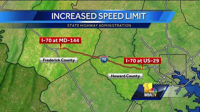 Speed Limit Increases To Mph On Parts Of I - Map of speed limits in us