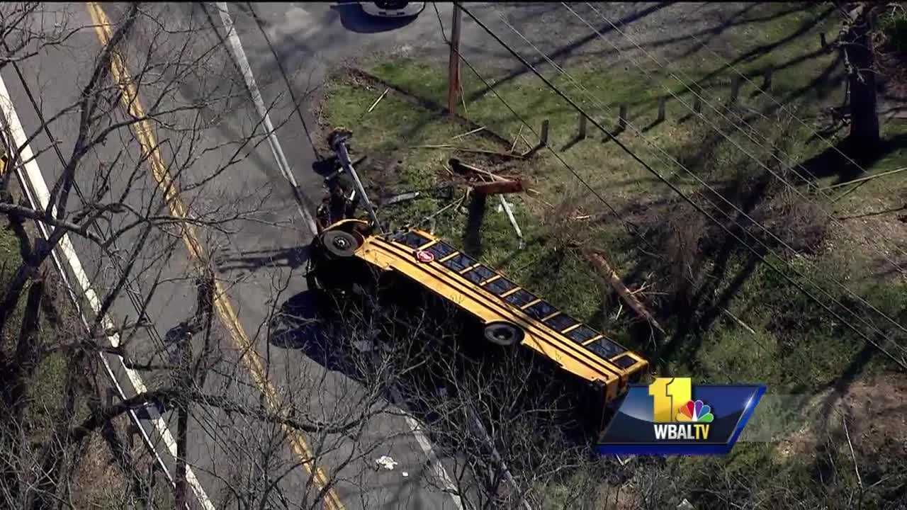 SkyTeam 11 Capt. Roy Taylor reports dozens were injured Wednesday in a school bus crash.