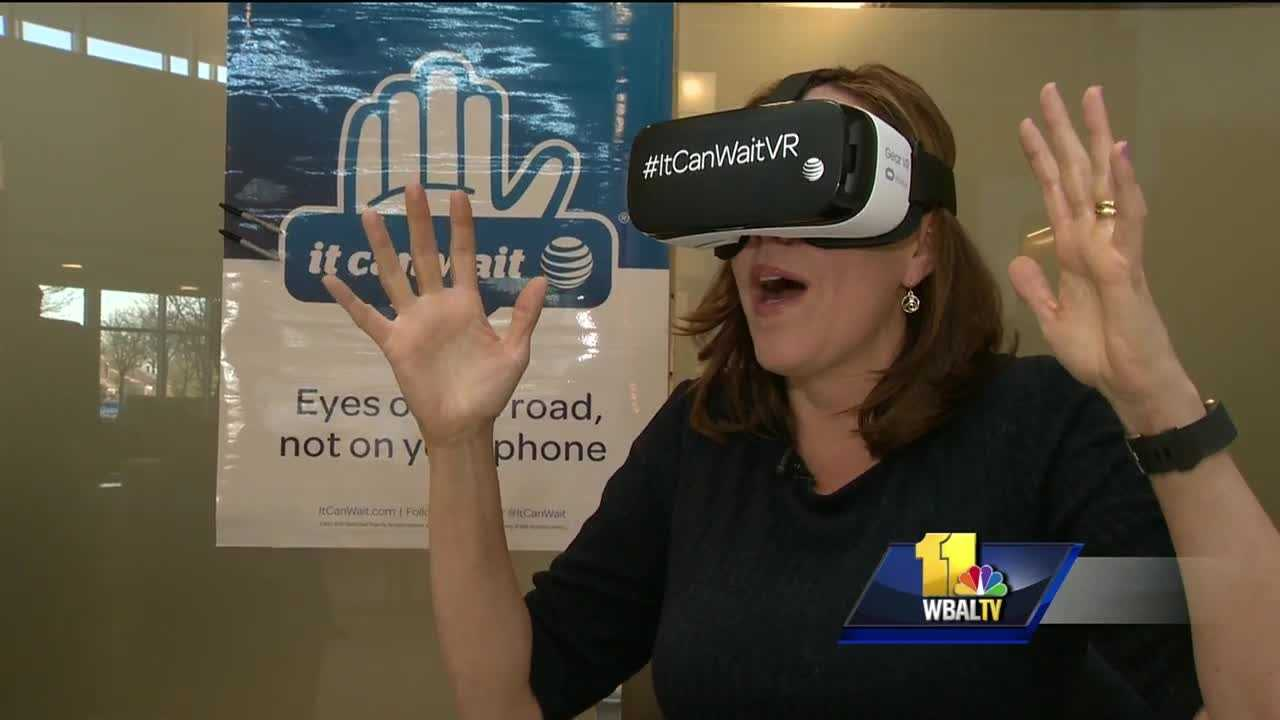 AT&T volunteers spent the day at hospitals all over Maryland to help raise awareness about the dangers of distracted driving using virtual reality equipment