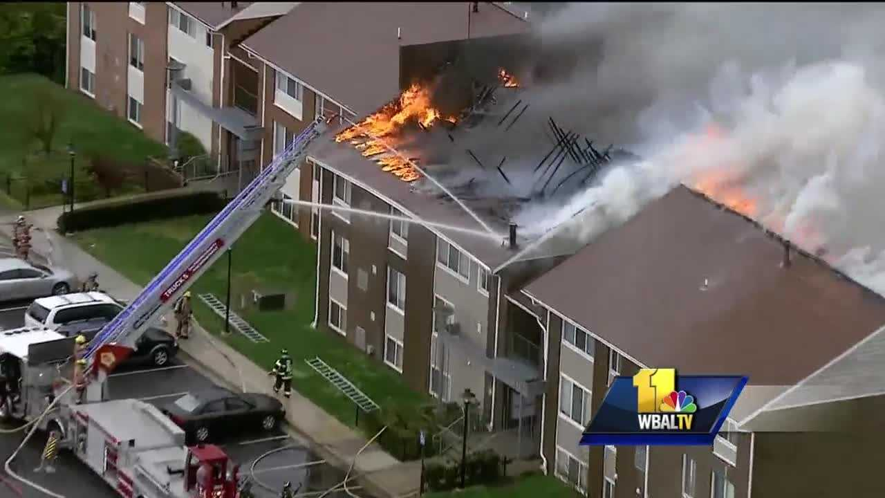 Crews battled a two-alarm apartment fire in Lansdowne that displaced dozens of residents. The fire happened at an apartment building at 2407 Tionesta Road, officials said.