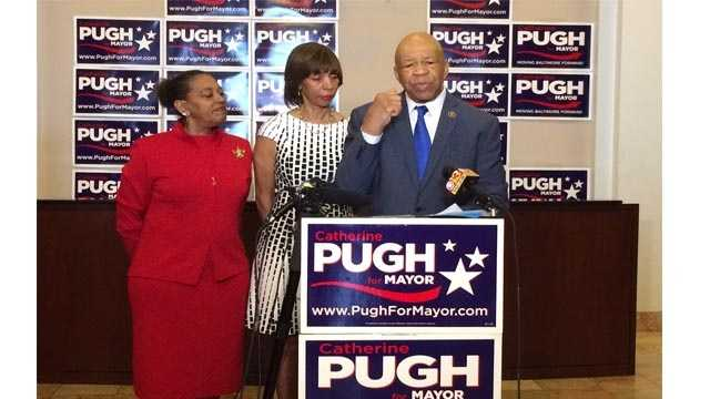 Rep, Elijah Cummings endorses state Sen. Catherine Pugh for mayor of Baltimore.