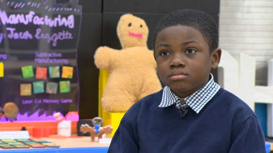 Jacob Leggette, 9, of Baltimore, was invited to participate in President Barack Obama's final White House science fair.