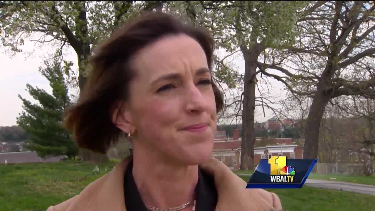 It was opening day at Camden Yards and Elizabeth Embry seems to know everyone. It's helpful when you're campaigning for mayor in a crowded Democratic field.