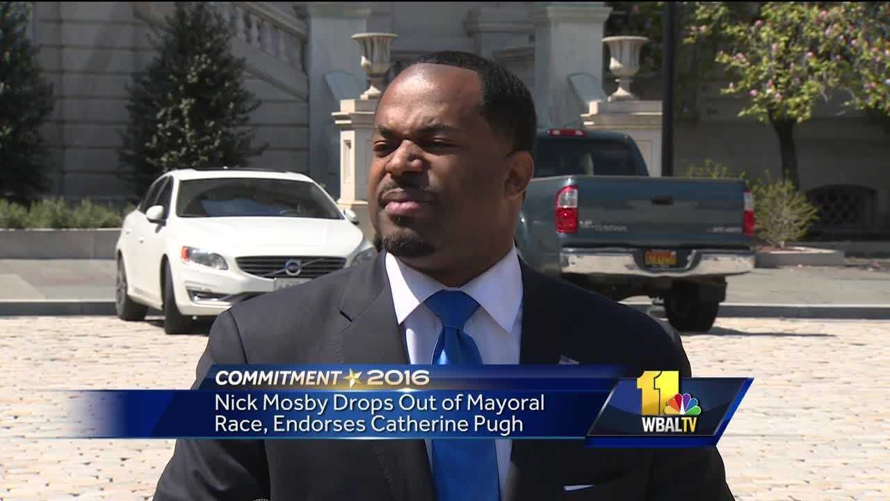Baltimore City Councilman Nick Mosby has dropped out of the mayoral race. Mosby held a news conference in front of City Hall Wednesday where he will finish out his term as councilman, serving the 7th District. He explained why he's leaving the race.
