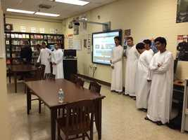 The Emirati students are in 11th grade at the American International School in Abu Dhabi, UAE.