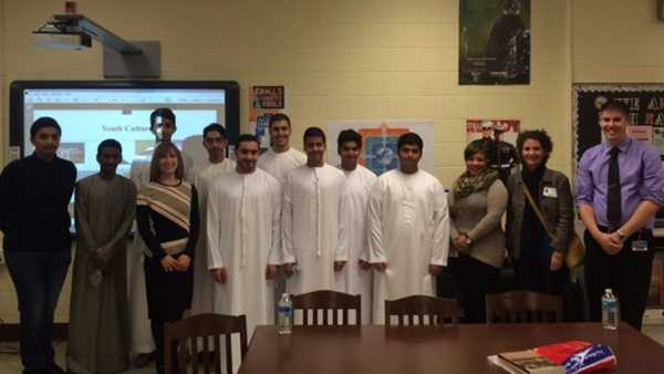 Nine students from Abu Dhabi visited Loch Raven High School this week just before attending the Better Understanding for a Better World Conference in Baltimore.