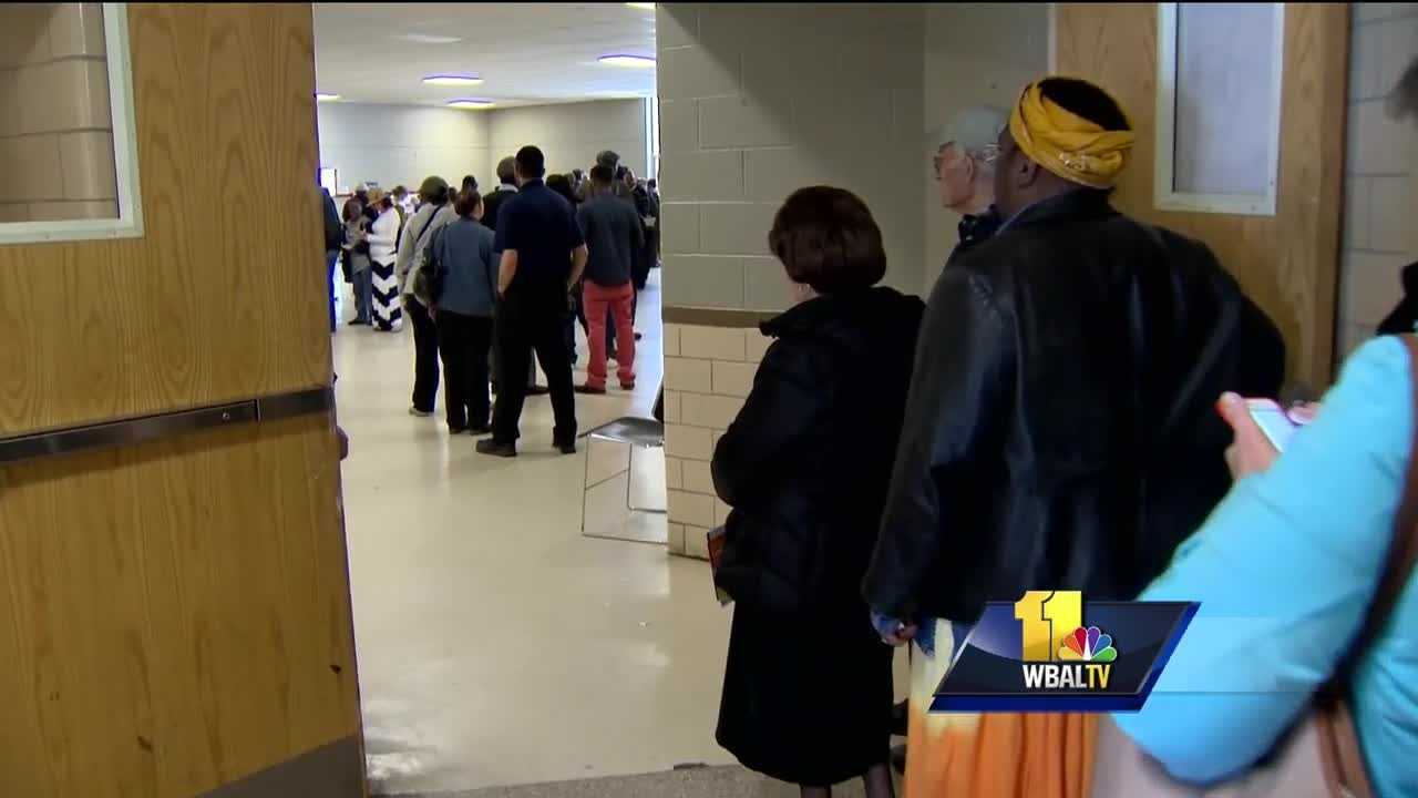 Early voting begins Thursday in Maryland. There are 67 early-voting locations across Maryland -- six in Baltimore City -- where voters have showed up to find long lines and lots of confusion.