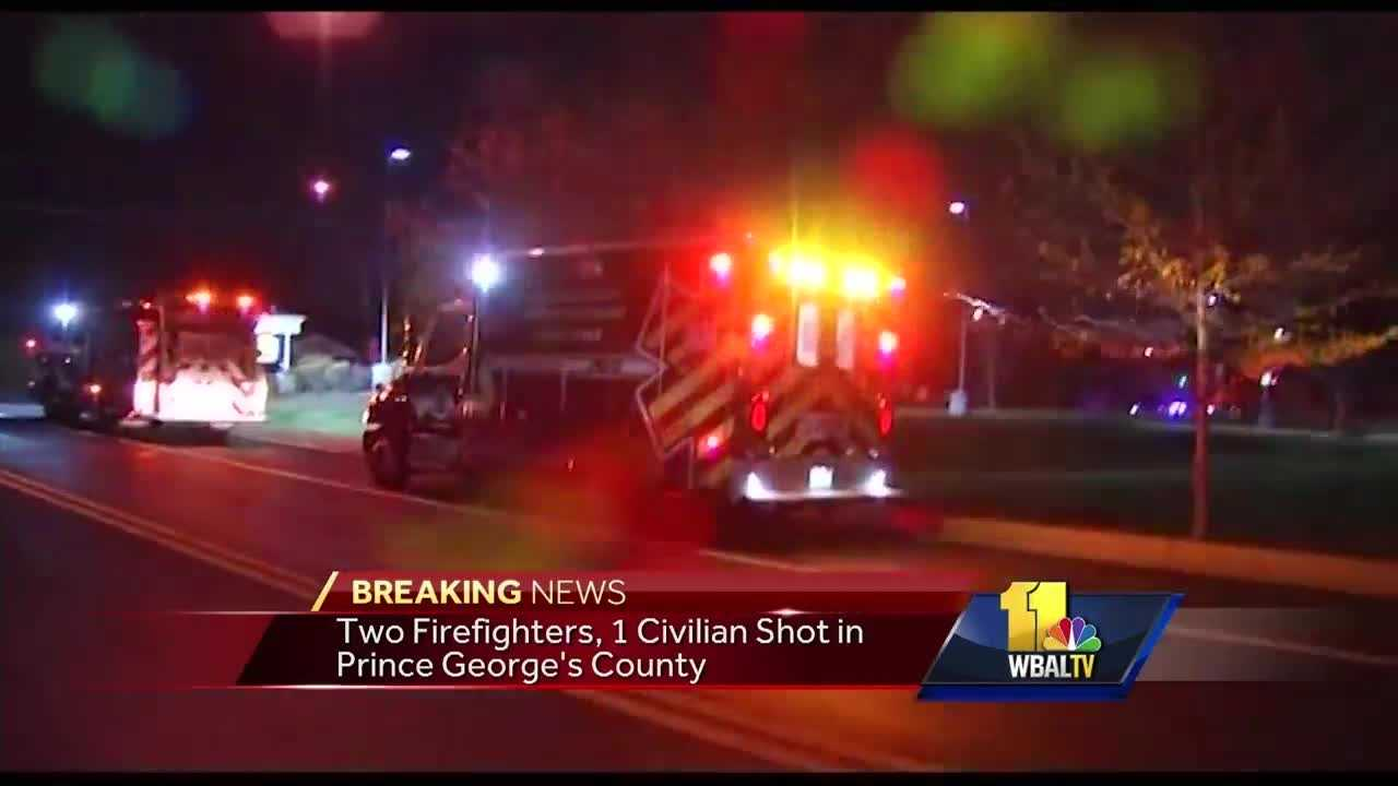 Authorities announce the death of a firefighter who was injured in a triple shooting in Prince George's County.