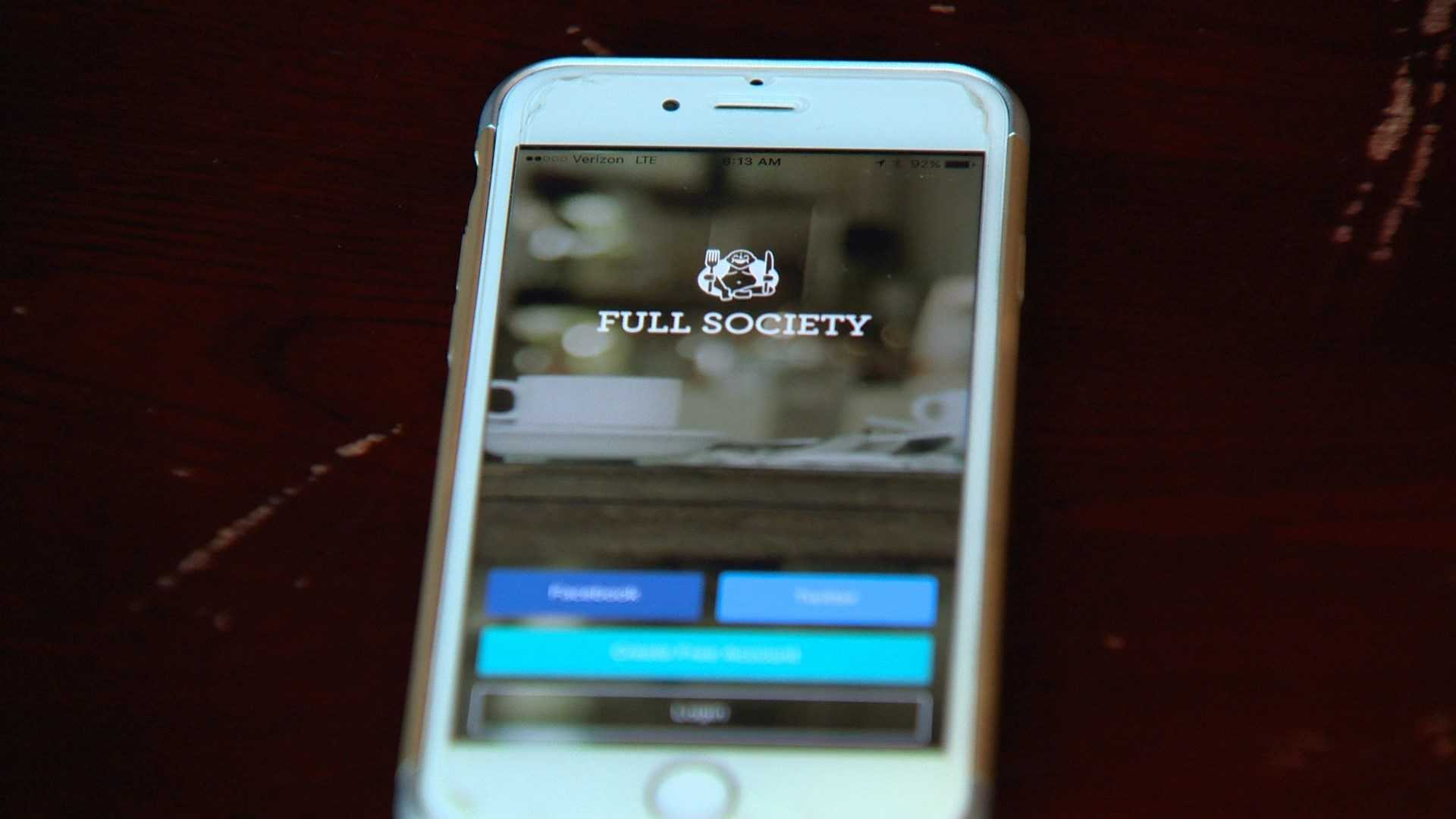 Full Society is an app that allows customers at a restaurant to split a bill over the phone.