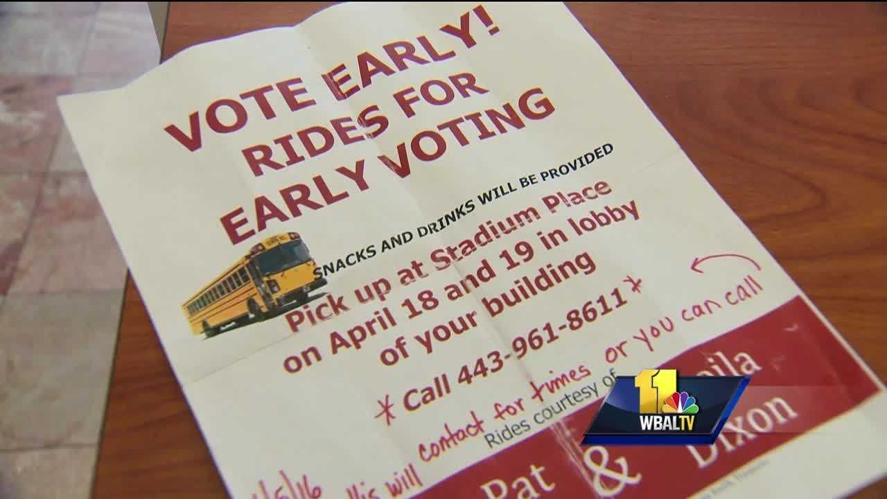 The campaigns for the front-runners in the Baltimore race for mayor are accusing each other of breaking election laws. The Sheila Dixon campaign said Monday that the State Prosecutor's Office is investigating complaints that the Catherine Pugh campaign is trying to buy votes. The Pugh campaign said Monday that they also got the state prosecutor involved with allegations that the Dixon campaign is harassing Pugh voters.