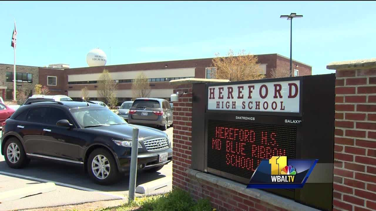A teenager who had been previously investigated for making a threat to a school and for theft in the area was cited for trespassing inside Hereford High School on Thursday. Baltimore County Public School officials said the 17-year-old boy was discovered inside the school around 2 p.m. According to a letter sent home with students Friday, the teen entered the school in the south English wing through a door that was supposed to closed, but its lock failed to catch.
