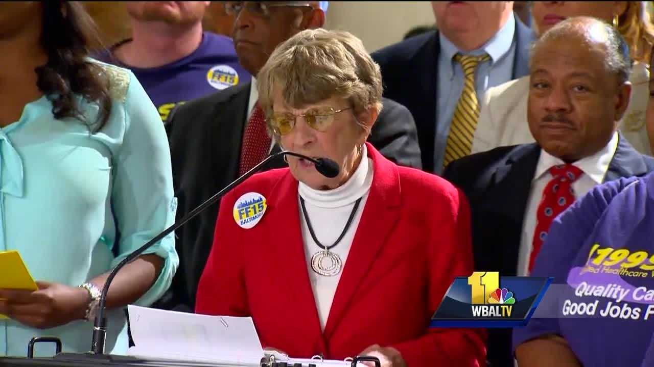 City Councilwoman Mary Pat Clarke is among the councilmembers that support raising Baltimore's minimum wage to $15 an hour.