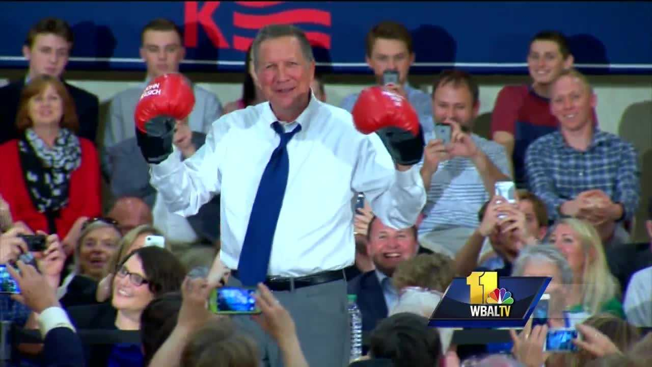Ohio Gov. and Republican presidential candidate John Kasich hosted a town hall meeting Tuesday in Annapolis.