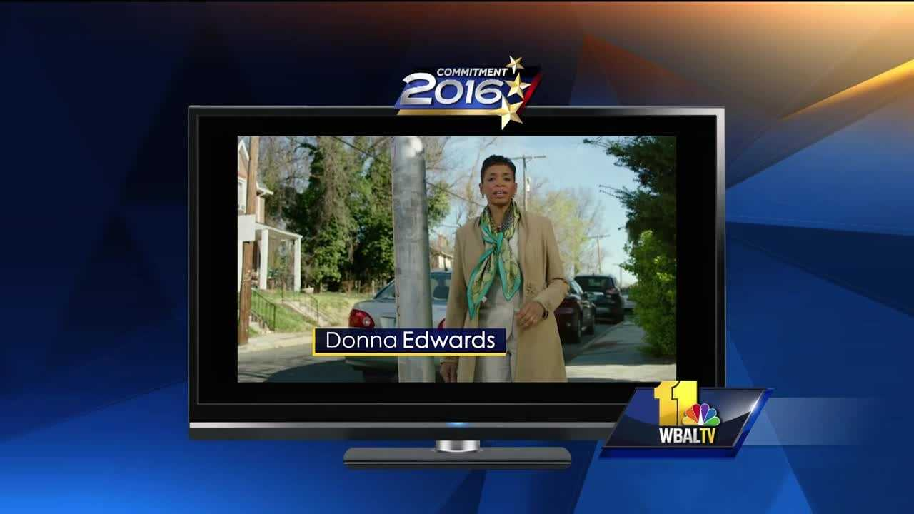 The Democratic front-runners in the Maryland U.S. Senate race are battling over the airwaves, taking aim at gun control. Rep. Chris Van Hollen and Rep. Donna Edwards are each claiming in TV ads that they have the strongest anti-gun records. In one attack ad, the commercial gives an impression that the issue is about gun control. In reality, the Edwards campaign is making hay over Van Hollen's 2010 legislative deal to get a campaign finance reform bill passed.