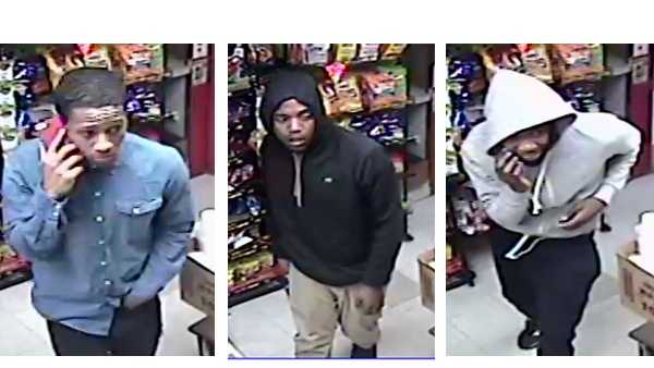 Suspect 1-3 (left to right).