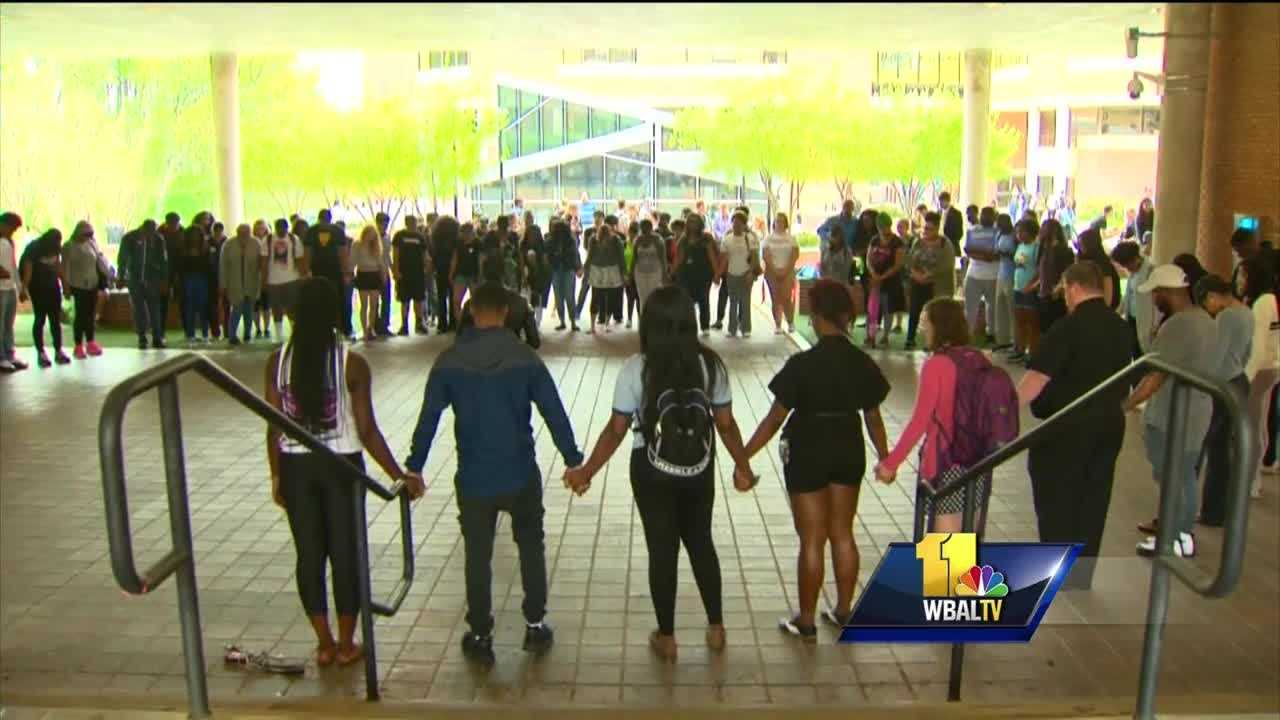 Towson University administrators joined students Friday afternoon for a unity rally on campus. The gathering comes after students expressed their dismay over recent racially- insensitive incidents and the school's response.