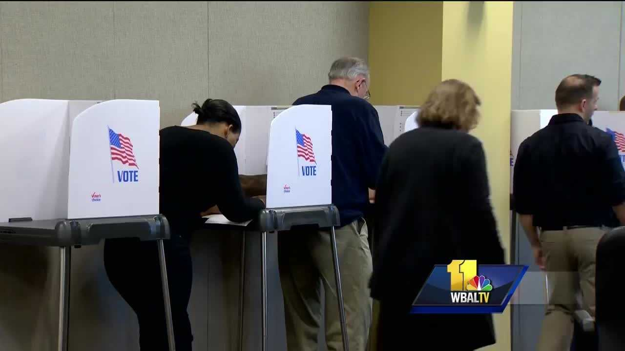 Early voting turnout up in Maryland