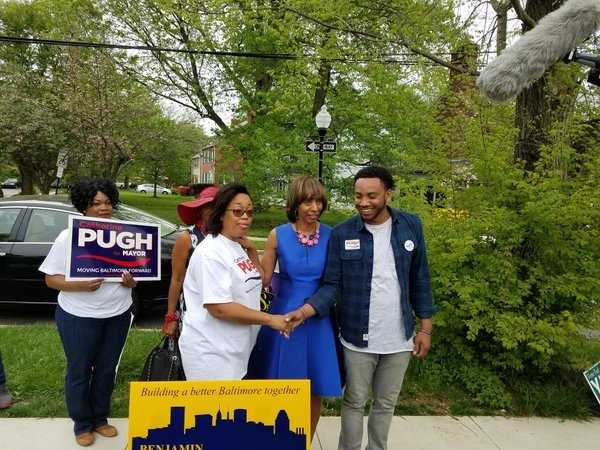 Kwame Rose said he voted for the first time in support of Baltimore mayoral candidate Catherine Pugh.