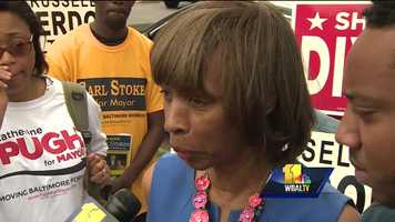 "Baltimore mayoral candidate state Sen. Catherine Pugh said a ""miscommunication"" is to blame for campaign workers getting turned away."